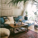 Boho Decorating ideas for your first apartment or small space living room that i...