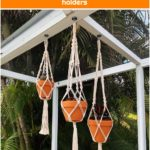 3 pcs macrame hangers for indoor plants,macrame hanger plant,macrame indoor planters,plant lover gifts,gardening planters,boho plant holders