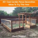 20+ Cool Garden Fence Decoration Ideas To Try This Year