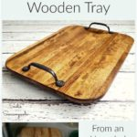 DIY farmhouse containers using a repurposed old cutting board