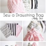 Beginner Sewing Project: Learn to Sew a Drawstring Bag - Melly Sews