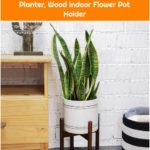 Amazon.com : TIMEYARD Mid Century Plant Stand - Best Fits 8in Planter, Wood Indoor Flower Pot Holder