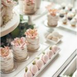 Garden wedding cake, mini wedding cake, sweet table, nature-inspired cakes and t...
