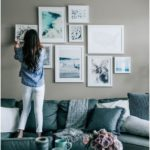 Blue Grey Living Room Decor, Pretty in the Pines Lifestyle Blog, Gallery Wall #B...