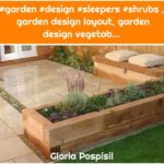 #garden #design #sleepers #shrubs , garden design layout, garden design vegetab...