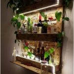 Set up a bar shelf with pallets of your Avec Mon Magasin Gnral Patio Garden #diypallet - diy pallet creations