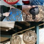 Natural string DIY party decoration craft ideas with fairy lights - Instructions #Homedecord ...