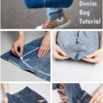 Bag of old jeans ~ How to sew free tutorial for beginners. Ideas for sewing proj…