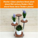 "Indoor plant stand ""Orleans 7"". Planter Indoor planters Wood plant stand Mid century Modern Plant stand Home decor Modern planter"