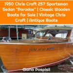 "1950 Chris Craft 25′ Sportsman Sedan ""Paradox"" 