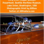 Chris Craft Classic Wooden Powerboat, Seattle Maritime Museum, Lake Union, Washington, USA Photographic Print by William Sutton at AllPosters.com