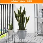 BLACK PEPPER Plant stand - indoor / outdoor, black - IKEA