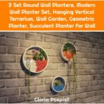 3 Set Round Wall Planters, Modern Wall Planter Set, Hanging Vertical Terrarium, Wall Garden, Geometric Planter, Succulent Planter For Wall