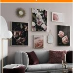 Photo wall in the living room | Design a beautiful picture wall in the living room ...