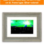 Framed graphic print Green Party East Urban Home size: 93 cm H x 126 cm W, frame type: Silver-colored