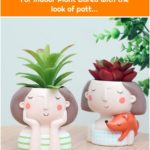 Great Idea 8 Cute Pots Design Ideas For Indoor Plant Bored with the look of pott...
