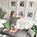 How to create a grid-like gallery wall from family photos
