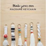 Send your kids back to school with their own macrame keychain.